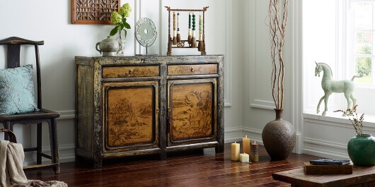 lifestyle product photography living room wooden cabinet