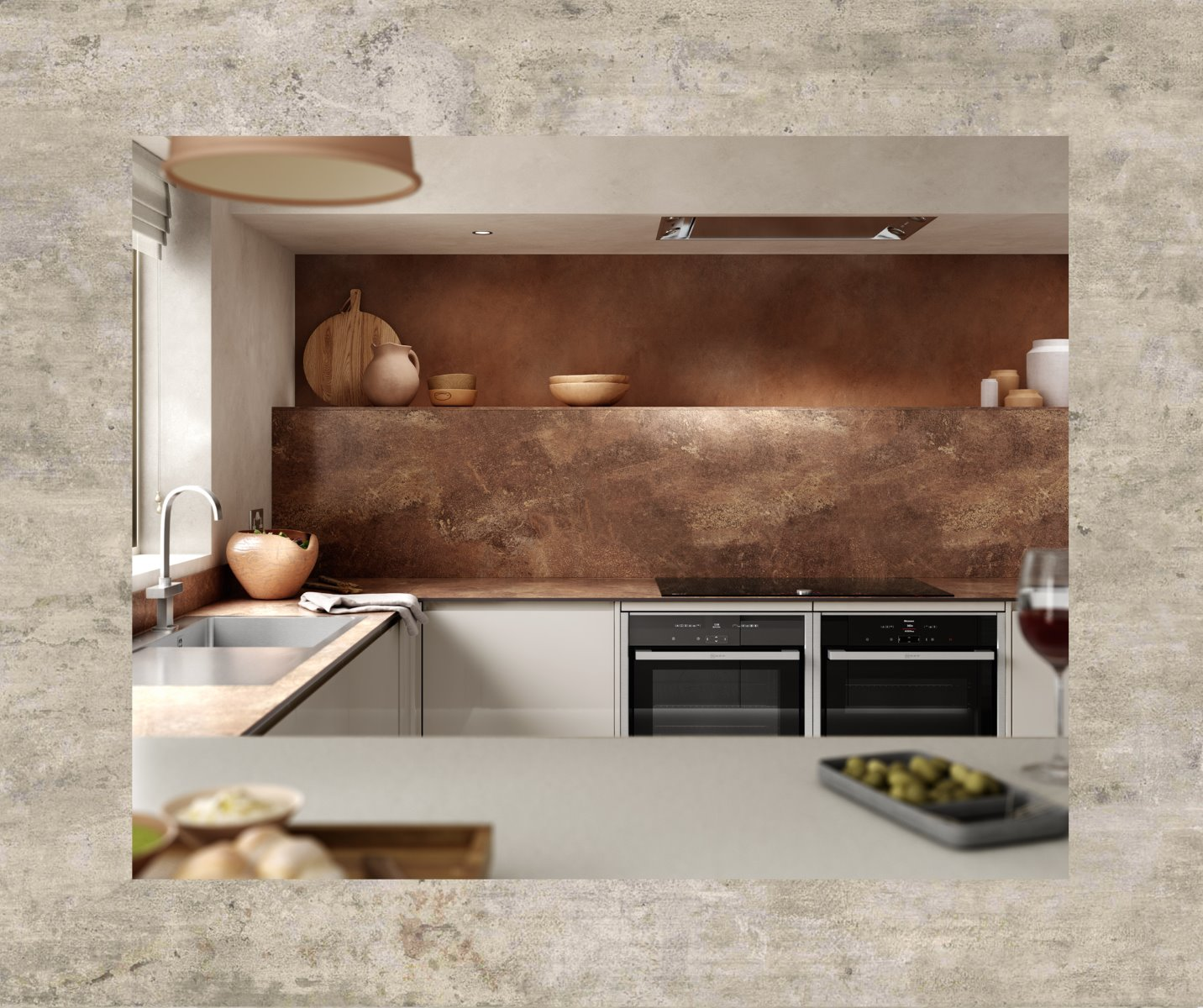 Terracotta textured kitchen zenith
