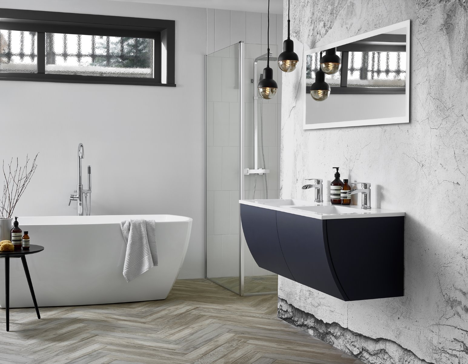 industrial trend bathroom photography