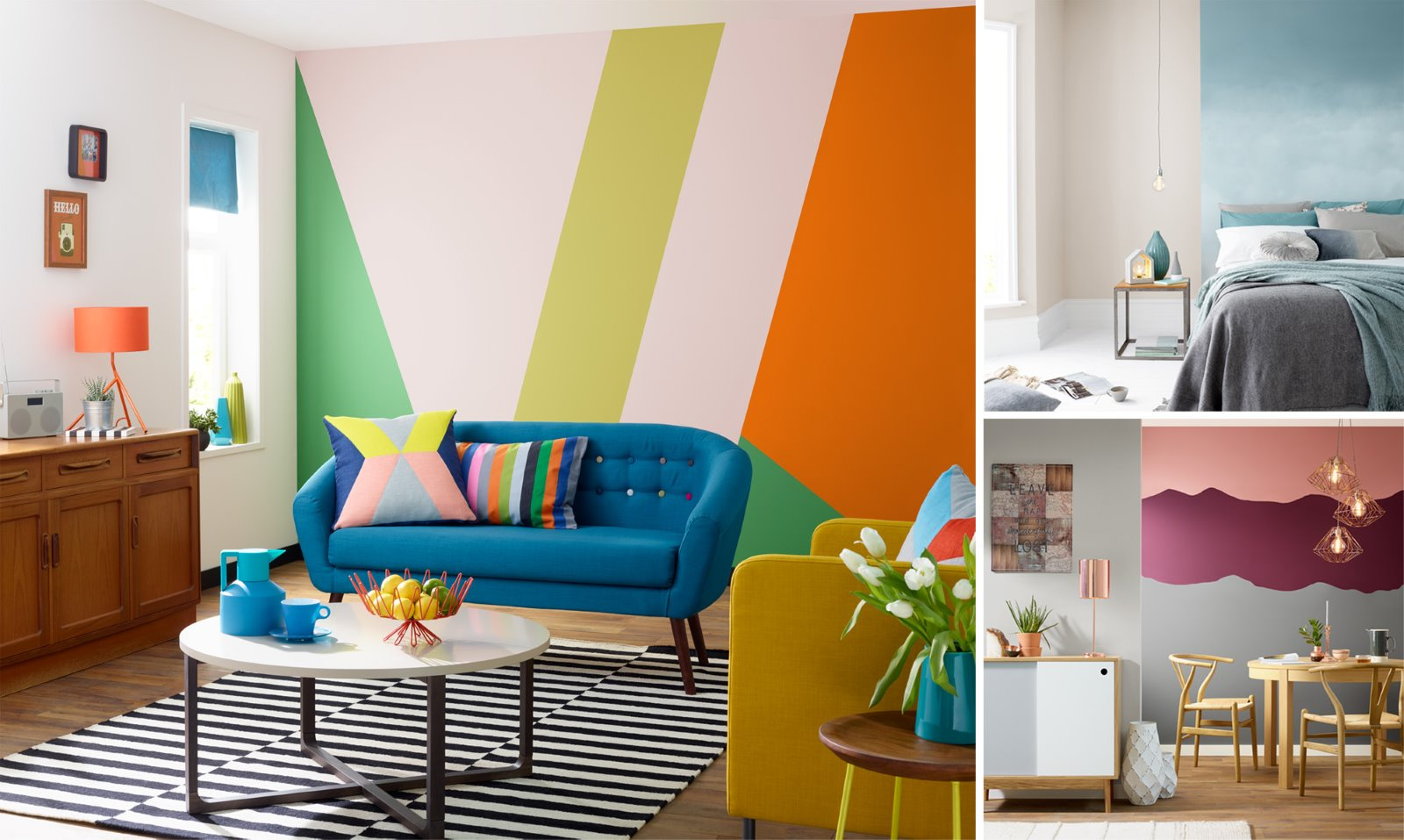 room set photography paint wall colours trend fashion mural