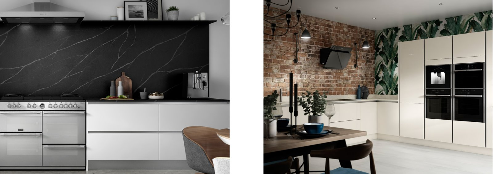textured splashback kitchen brick marble