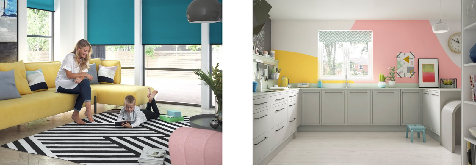 Colour blocking family fun design Set Visions